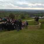 Armistice Day Service at Crich Memorial 11.11.14