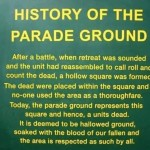 History of the Parade Ground.
