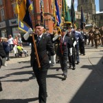 Lord Mayor's Parade 2016 (Pete Ravey 3rd in line Chesterfield Branch WFRA Standard Bearer)