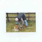 Mick Kelly tidying Martin Robinson's grave on the Sat before the Memorial Service on the Sunday.